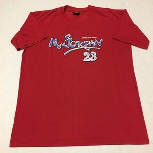 Michael jordan inc 23 spell out logo t shirt
